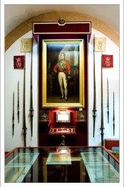 Зал с реликвиями в музее корриды.