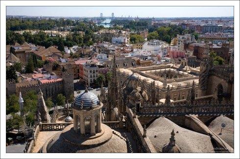 Крыша Севильского собора.