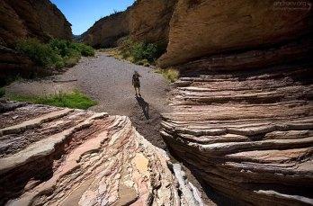 Слои резко обрываются перед входом в каньон Эрнста.