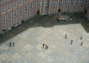 Третий двор Града с высоты главной башни собора Св. Вита.