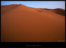 По Сахарским меркам, Эрг-Шебби - крохотулька, всего 22 x 5 км.