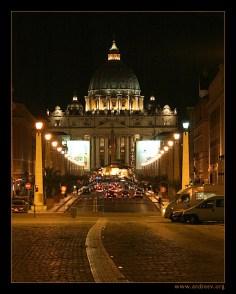 Собор Св. Петра. Поздний вечер.