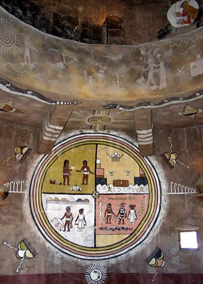Настенная роспись внутри Смотровой Башни.