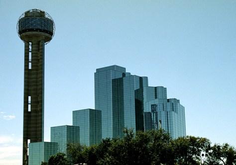 "Reunion Tower и гостиница ""Hyatt""."
