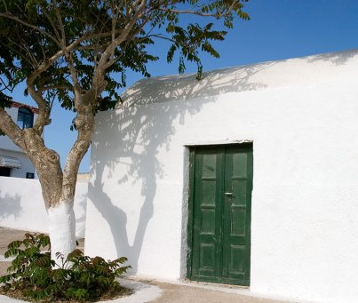 Олива и оливковая дверь. Деревня Ия.