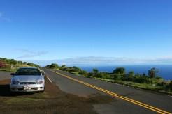 Дорога вдоль побережья Тихого океана, район Kaupo.