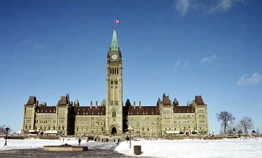 Канадский парламент, центральный блок.