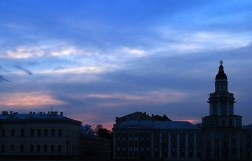 Закат над Васильевским островом.