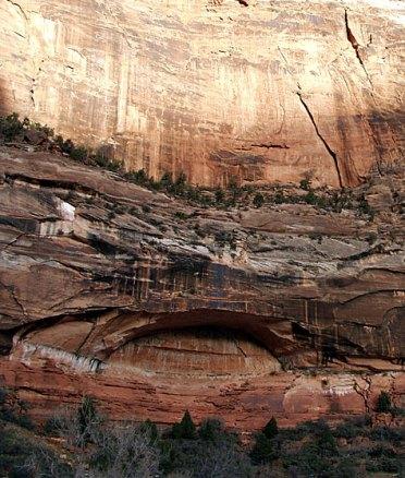 """Будущая арка. Тропа """"Canyon overlook""""."""