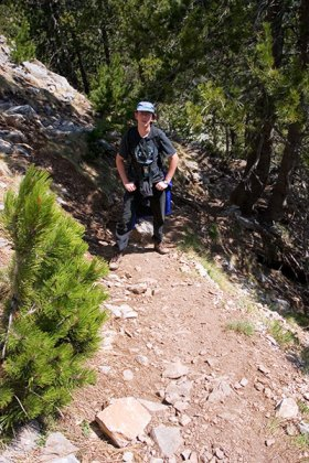 Средняя часть тропы на вершину Олимпа.