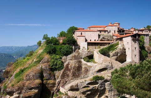 Монастырь Megalo Meteoro (Преображенский монастырь) - самый высокий в святых Метеорах, расположен на высоте 623 метра.