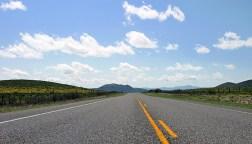Дорога через пустыню.