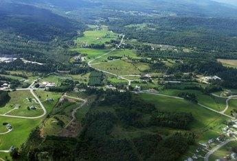 Морисвилл и окрестности. Фотография с планера.