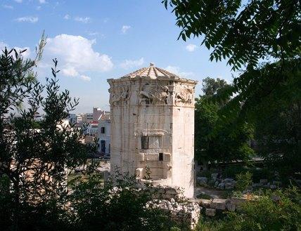 """Башня Ветров в Римской Агоре. Греки называют её просто """"Aerides"""" (ветра)."""