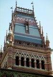 Memorial Hall и Ruskin Gothic Building. Кембридж.