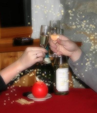 С Новым Годом! Итальянские Альпы, долина Аоста. 31 декабря, 2003.