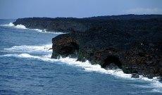Там, где лава встречается с океаном. Hawai'i Volcanoes National Park.