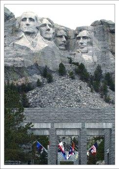 Президенты США на горе Рашмор.