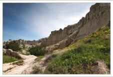 Первые метры по направлению каньона.