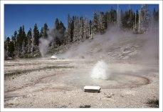 Тройной гейзер - West triplet geyser.