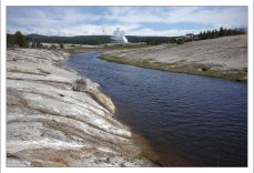 Температура в реке Firehole river достигает 30 градусов по Цельсию.