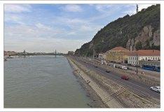 Набережная Дуная за мостом Свободы.