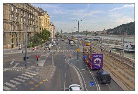 Правая сторона Дуная - бывший город Пешт.