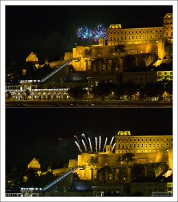 Салют над Будайской крепостью.