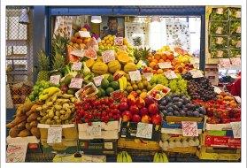 Овоще-фруктовая часть рынка.