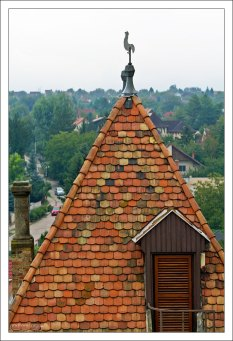 Черепичная крыша одной из башен замка Бори.