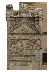 Верхняя часть Монумента Орфея (Orfejev spomenik) - древней реликвии города Птуй.