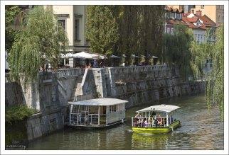 Прогулка на кораблике по Люблянице.