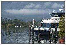 Яхта на озере Вольфгангзе.