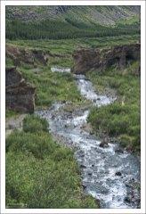Река Ботснау (Bottom river, т.е. «Нижняя река») в долине Botnsdalur.