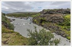 Река Хвитау (исл. Hvítá - Белая река). Считается самой опасной в Исландии из-за своих весенних разливов и водопадов.