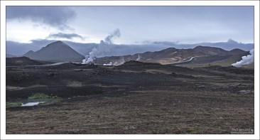 Работа геотермальной электростанции в кальдере Krafla.