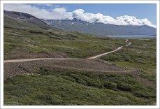 Часть дороги #1,которая спускается к фьорду Berufjörður.