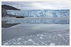 Ледник Эки находится примерно в 80 км к северу от Илулиссата.