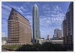 Жилой комплекс The Austonian в центре города, высотой 56 этажей.