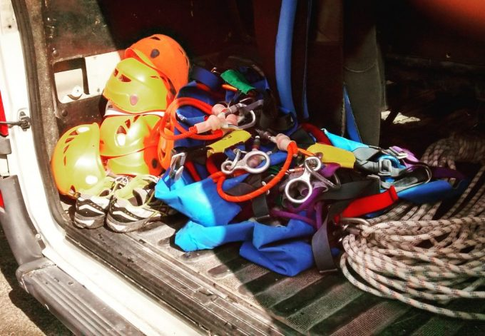Canyoning gear