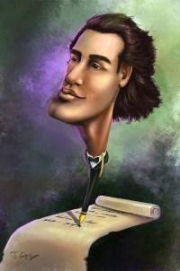 Mihai-Eminescu-caricatura
