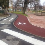 parcul-municipal-bistrita-piste-biciclisti-pietoni