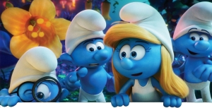 Imagem dos personagens smurfs