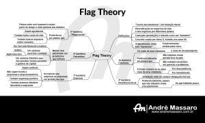 Diagrama em formato de mapa mental, mostrando os principais pontos da Flag Theory