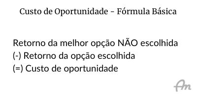 Fórmula básica do custo de oportunidade, sobre fundo branco