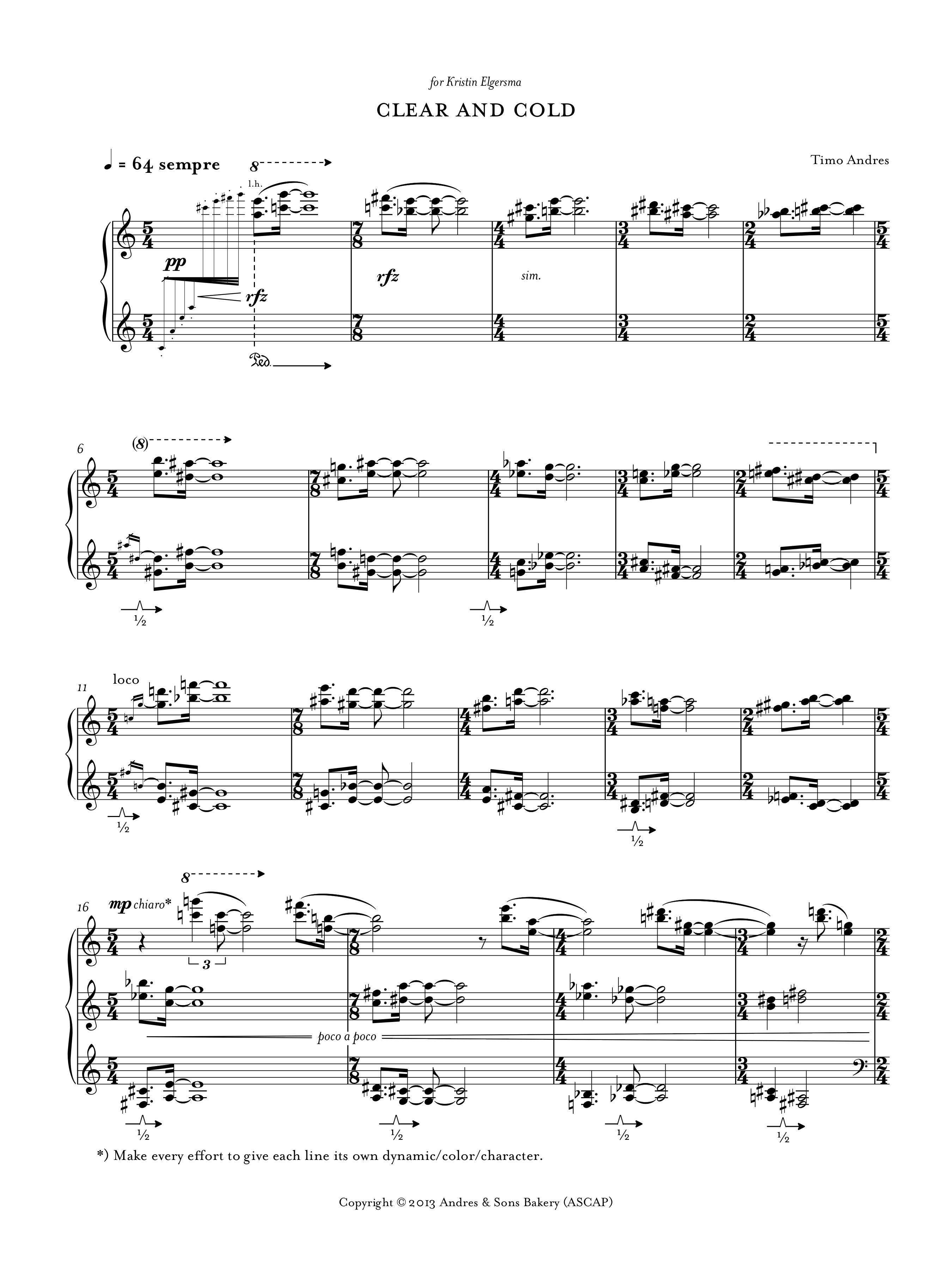 Clear and Cold, p. 1