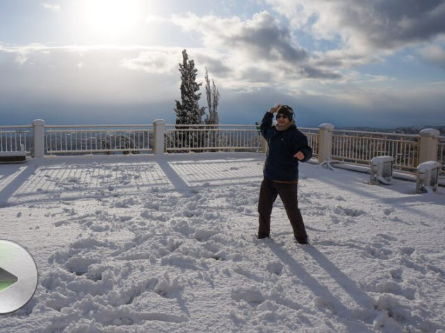 Le immagini della nevicata record a Gerusalemme