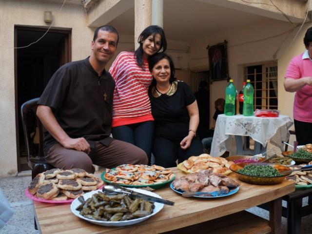 I visitatori al nostro corso di icone a Gaza