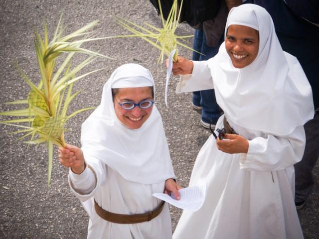 La processione delle palme 2014 da Betfage a Gerusalemme