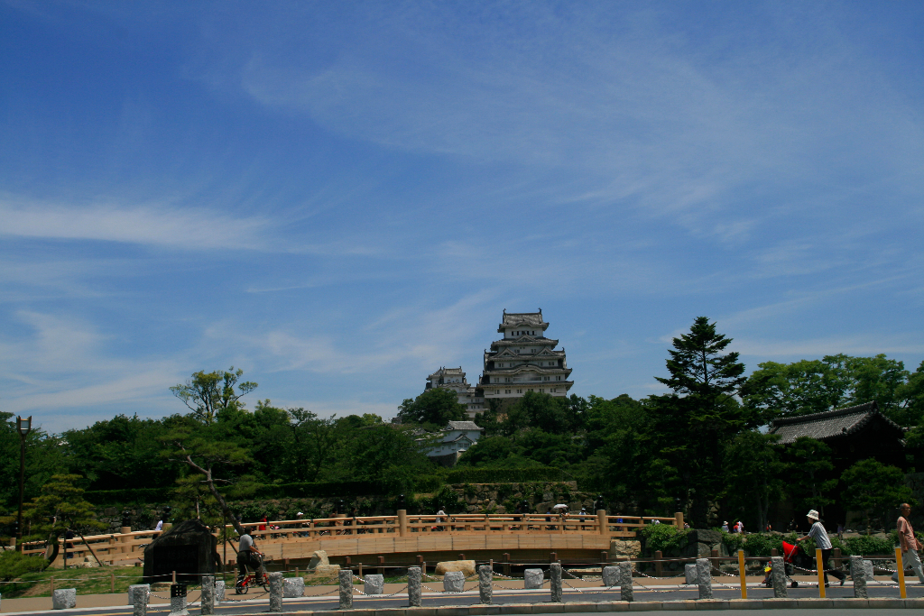 Himeji Castle view from entrace